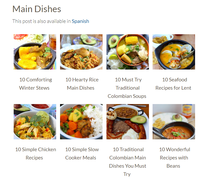 my colombian recipes food blog